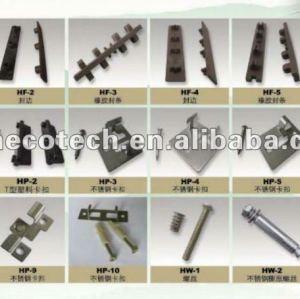 Gli accessori di decking di WPC, le clip di plastica o l'acciaio inossidabile ferma (con le viti)