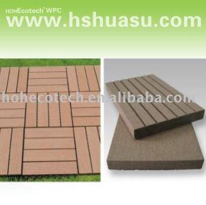 decking de decking de wpc/carrelage composés en plastique en bois respectueux de l'environnement