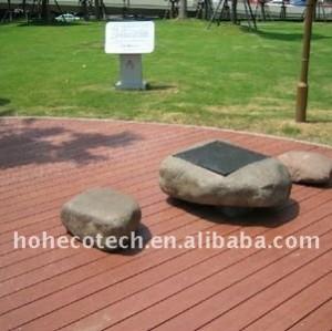 Bois de construction composé en plastique en bois de decking /wood de Decking en bambou extérieur populaire amical d'Eco/de decking wpc de plancher