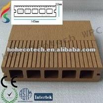 Plancher composé de WPC de decking de decking composé favorable à l'environnement de plancher