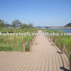 Landscape water-proof, rot and cract resistance composite decking