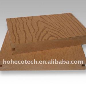 Le decking extérieur gravant en refief de wpc embarquent le bois de construction composé en plastique en bois/bois de charpente en bois de wpc de decking/plancher