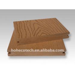 浮彫りになる表面のwpcのdecking板木製のプラスチック合成のdeckingかwpcの木製の材木か製材に床を張ること