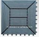 compuesto plástico de madera decking azulejos