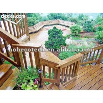 Water-proof, rot and crack resistance composite wooden stairs