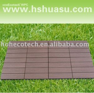 Eco - ambiente compuesto plástico de madera bricolaje decking azulejos