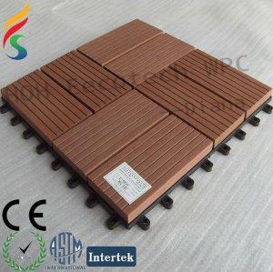 Anti - uv diy madeira plástica decking telha