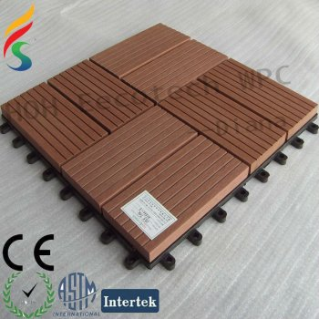 Anti-UV DIY Wood Plastic Decking Tile