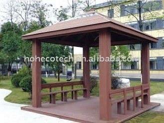 Aspect naturel patio, pergola avec des matériaux wpc