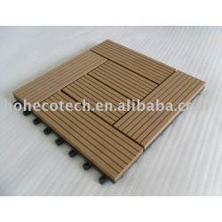 スウェーデン- 木材プラスチック複合材デッキ/床タイル- 容易なインストール