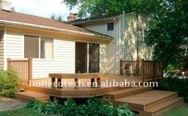 dehors decking composé en plastique en bois de décoration de jardin de porte/carrelage extérieur wpc de plancher