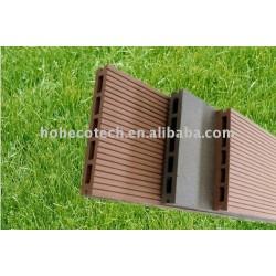 Wpcデッキの床のための屋外複合床、 洗濯室、 wpcdiyタイル新バルコニー原木- プラスチック複合材の床
