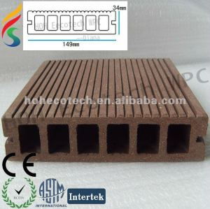 High strength waterproof wpc(plastic wood composite) decking floor