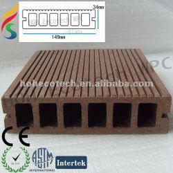高力防水wpc (プラスチック木製の合成物)のdeckingの床