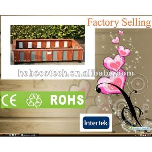 Promotion! Recycled water-proof decorative wpc project flower box (CE RoHS)