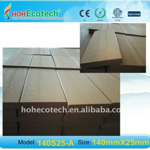 Ambiente amichevole, 100% riciclabile 140*25mm levigatura plastica legno wpc decking composito/pavimentazione in composito ponti