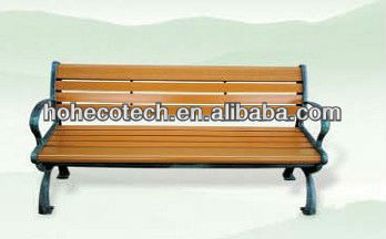 wood plastic composite park bench