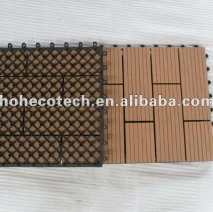 tuile composée en plastique en bois de plate-forme du plancher WPC DIY de bienvenue de tuile de salle de bains de wpc