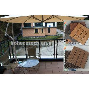Outdoor Plastic Vinyl Decking Boards/eco-friendly wood plastic composite decking/floor tile