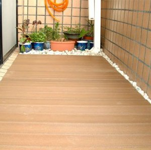 Corridor wood plastic composite outdoor flooring