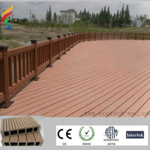 extruded decking boards Ecological WPC composite decking for pool or garden