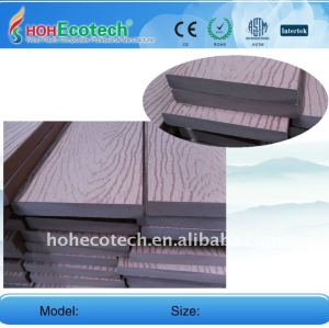 Goffratura 140*20mm superficie di legno wpc plastico composito decking/pavimentazione di wpc bordo piano piano decking di wpc