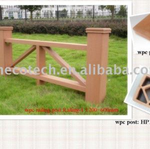 Wood plastic composite post