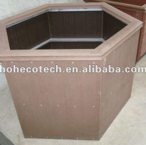 Compósitos de madeira plástica wpc flor caixa