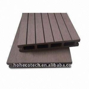 Hueco 146*25mm modelo personalizado - longitud de wpc compuesto plástico de madera decking/suelo piso junta ( ce, rohs, astm ) decking del wpc piso