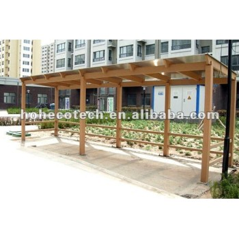 Beautiful recyclable long life WPC plastic car shed (competitive price)