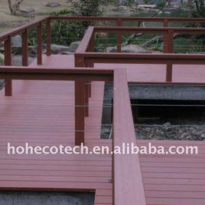 decking composé en plastique en bois de plate-forme de bois de construction de wpc de panneau de plancher de wpc/decking de plancher