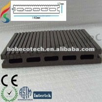 composé en plastique en bois respectueux de l'environnement de tuile du decking /floor (extérieur)
