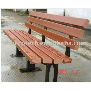 WPC outdoor natural wood chair/bench