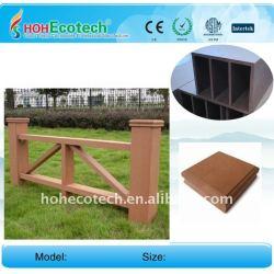 木製のプラスチック合成物は屋外に庭の塀WPCの柵のwpcの囲を囲う