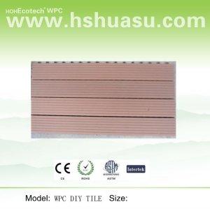 plancher composé en plastique en bois, plancher diy