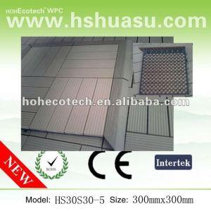 Tuiles composées imperméables à l'eau de plancher de tuiles de decking de WPC pour la salle de bains/jardin/balcon /backyard/courtyard