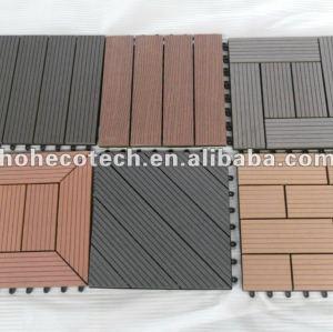Anti - gusano y resistente a la corrosión al aire libre wpc decking azulejos