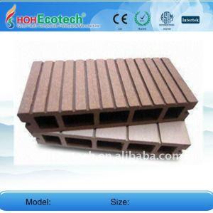 Produzione 150*25mm wpc legno decking composito di plastica/pavimentazione bordo pavimento di wpc decking ponte