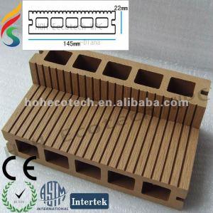 plancher/plancher machinés composés de bois de construction de wpc
