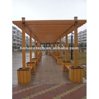 HUASU WPC outdoor decking,wpc decking project