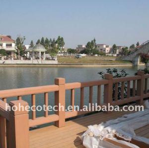 Clôture en plastique du bois d'intérieur/extérieure de composé de WPC/balustrade