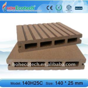 140h25 hueco wpc decking compuesto de piso piso terrazas al aire libre