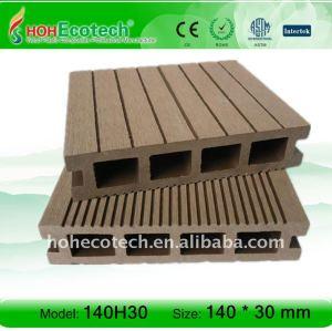 Cava 140h30 piano decking di wpc pavimento composito, decking esterno