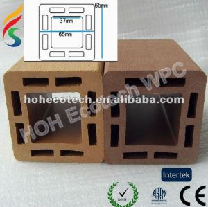 Outdoor decorate wpc fencing material/eco-friendly wood plastic composite decking/floor decking--Post