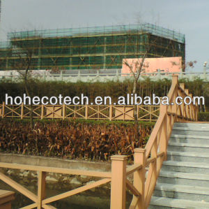 Waterproof wpc fence/railing project ecofriendly wood plastic composite decking /flooring
