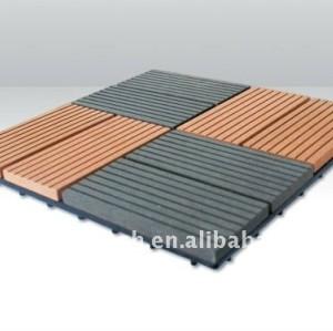 Le decking de DIY couvre de tuiles le wpc parquetant le decking composé du decking WPC
