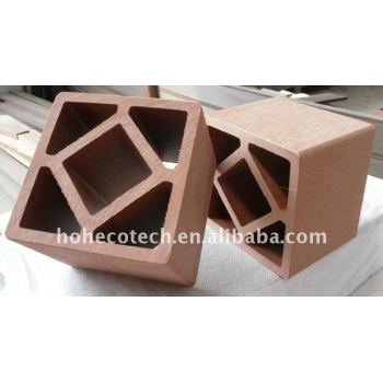 hot sell wpc post, wood plastic composite railing for outdoor construction material 120*120mm