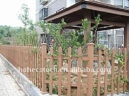 clôture du bois de wpc de décoration de lieux publics de barrière du poteau WPC de jardin de wpc en bois de balustrade