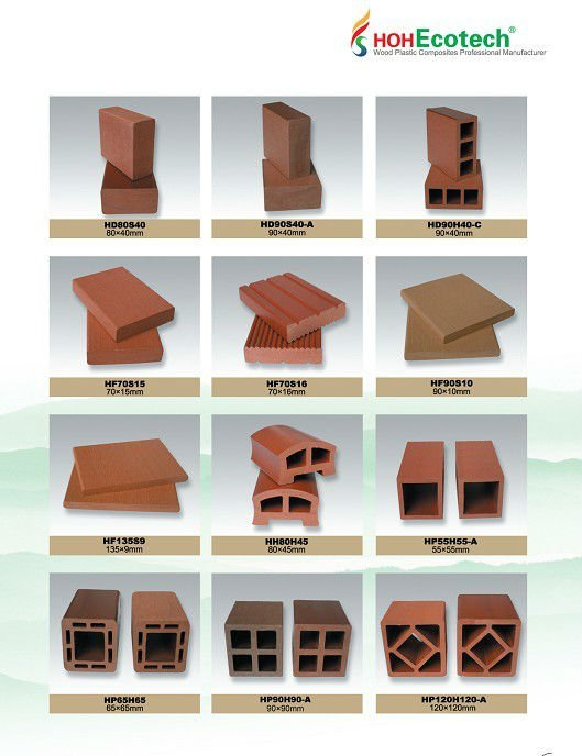 High Recycle wood grain wpc composite decking/flooring