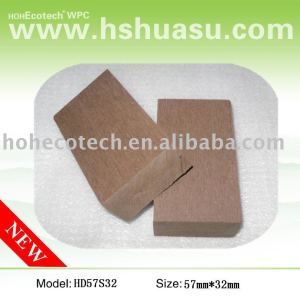 Top calidad wpc suelo junta, de cobre de color marrón
